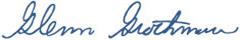 Glenn Grothman Signature