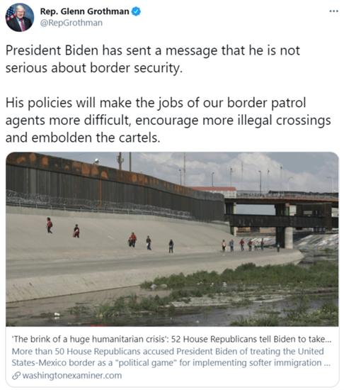 Border Crisis Washington Examiner Tweet