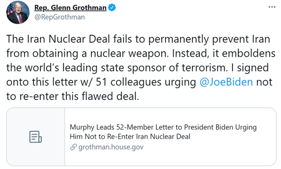 Iran Nuclear Deal Tweet