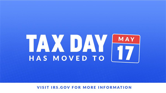 Tax Day Moved to May 17