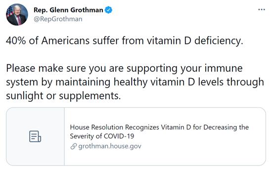 Vitamin D Article Tweet